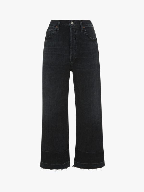 Sacha High Rise Wide Leg Crop Jeans