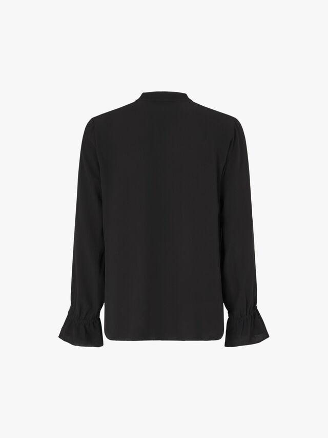 Flutter Cuff Mandarin Collar Shirt