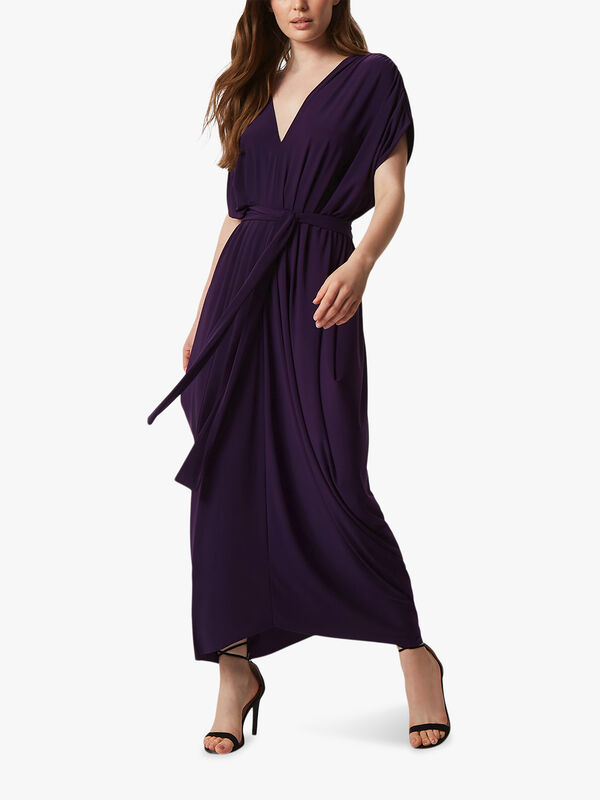 Batwing Pleated Midi Dress