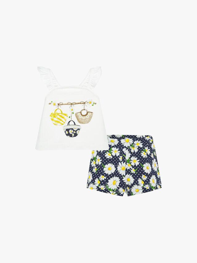 Basket Top And Shorts Set
