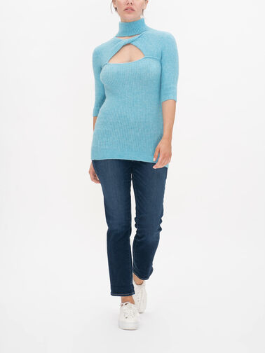 Twisted-Neckline-Soft-Wool-Knitted-Top-K1500