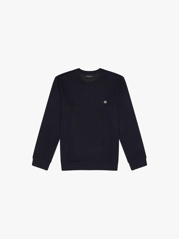 Crew Neck Small Logo Sweatshirt
