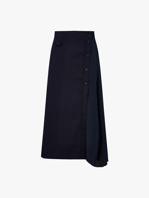 Pesche-Button-Detail-Asymmetric-Skirt-0000422273