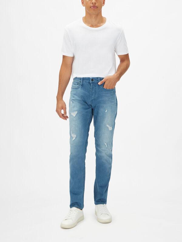 Razor Rip & Repair Slim-Fit Jeans