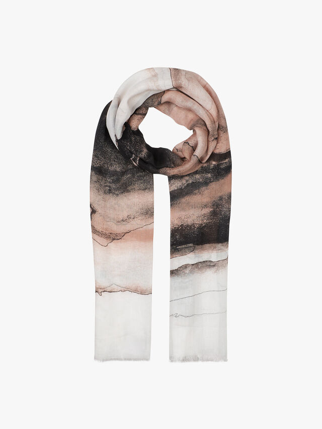 Skyline Watercolour Scarf