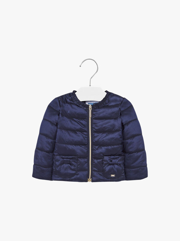 Puffa Coat With Bows