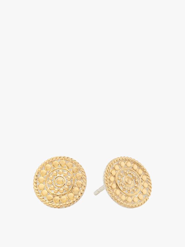 Contrast Dotted Stud Earrings