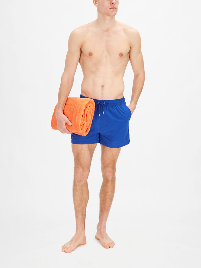 Plain Stripe Swim Shorts