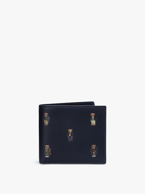Polo Bear Leather Billfold Wallet