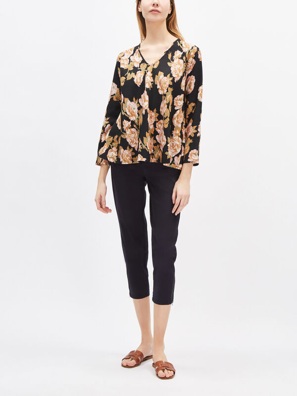 Kala Rose Print Top