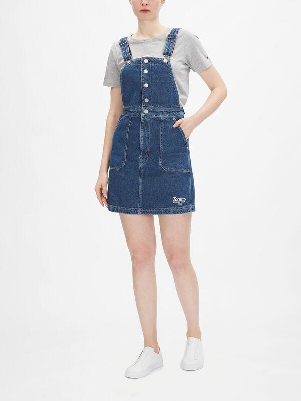 Crossback Dungaree Dress