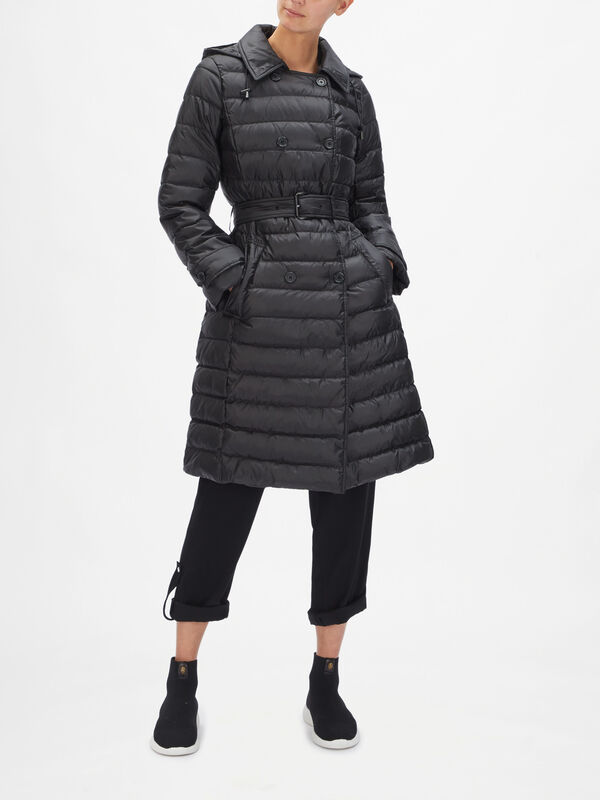 Eco Packable Trench Puffer Coat
