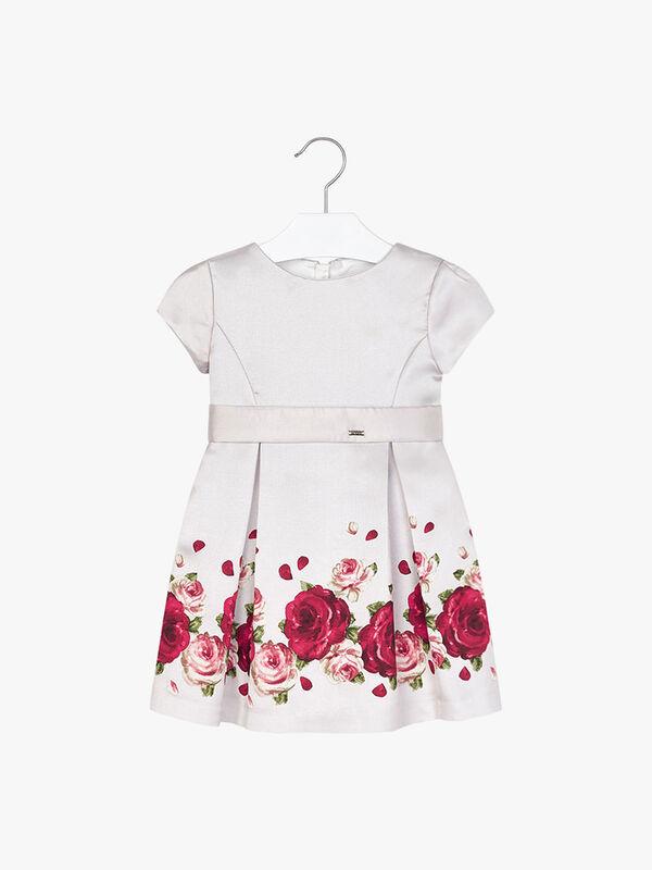Taffeta Dress With Print Design