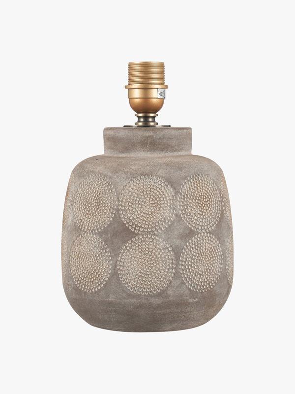 Embossed Stoneware Table Lamp