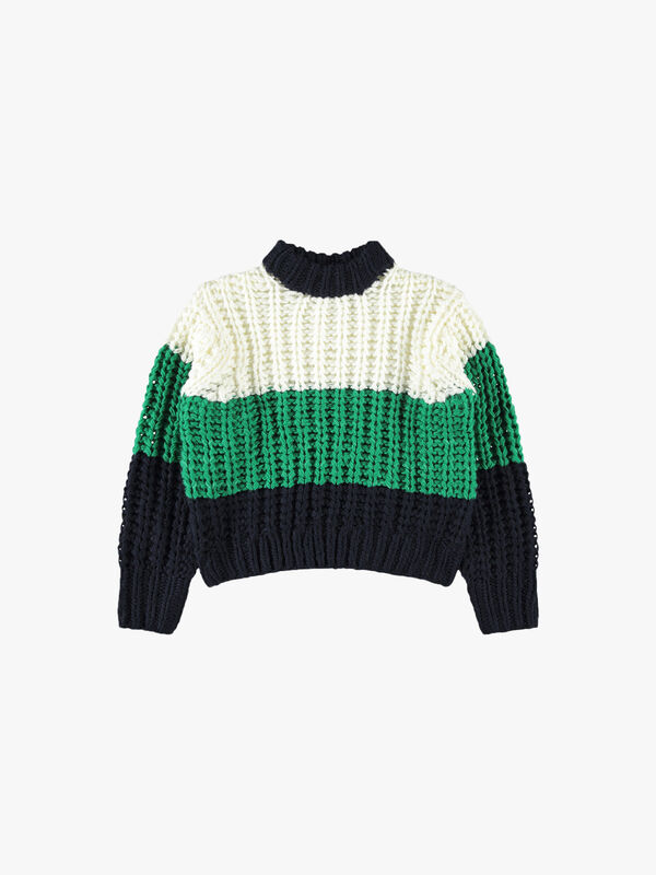 Cropped Chunky Pullover