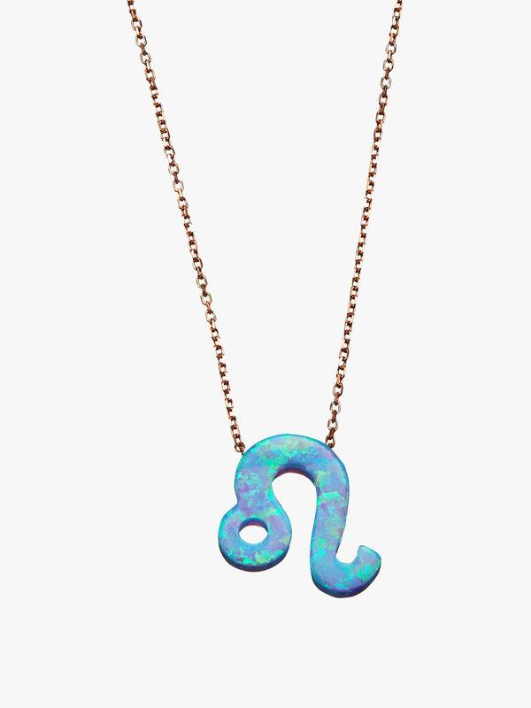 Leo Opal Zodiac Necklace