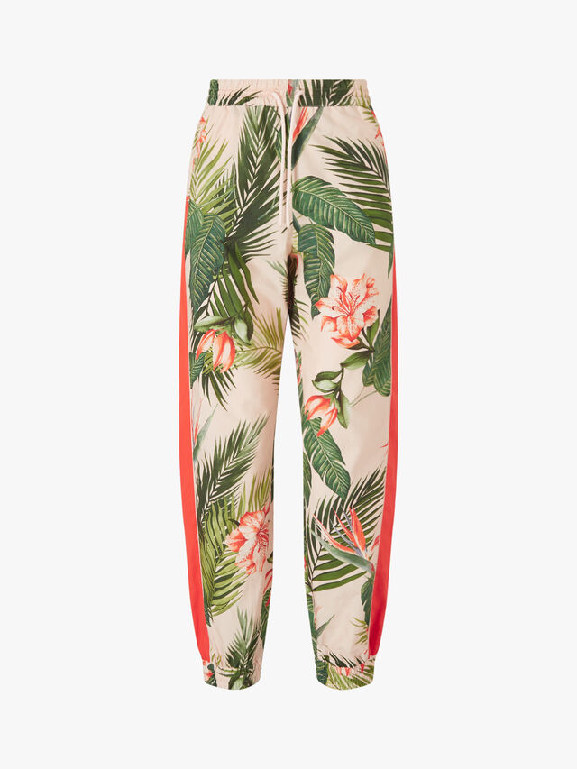 Ampezzo Palm Tree Ibiscus Trousers