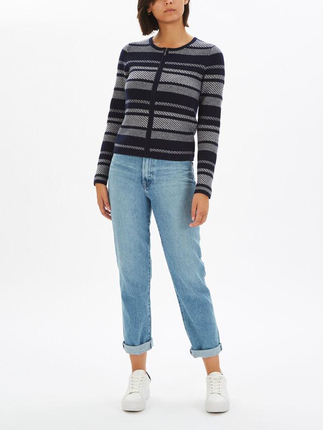 Zip Thru Knitted Cardigan