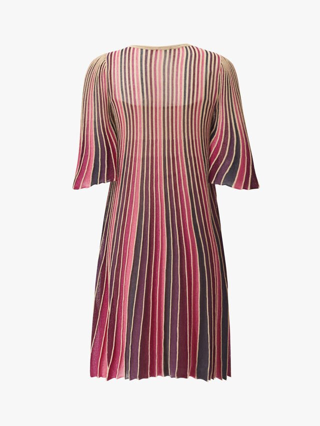 Prodigio Pleated Lurex Dress