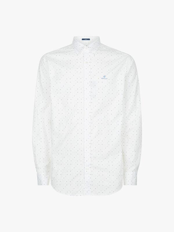 Micro Polka Dot Print Shirt
