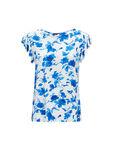 Print Frill Sleeve T-Shirt