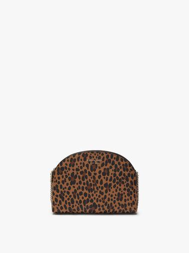 Spencer Leopard Double Zip Dome Crossbody