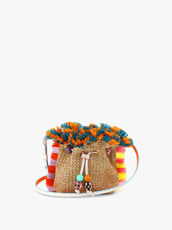 Emmie Raffia Shoulder Bag