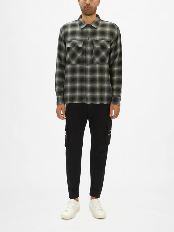 Frayed Flannel Shirt