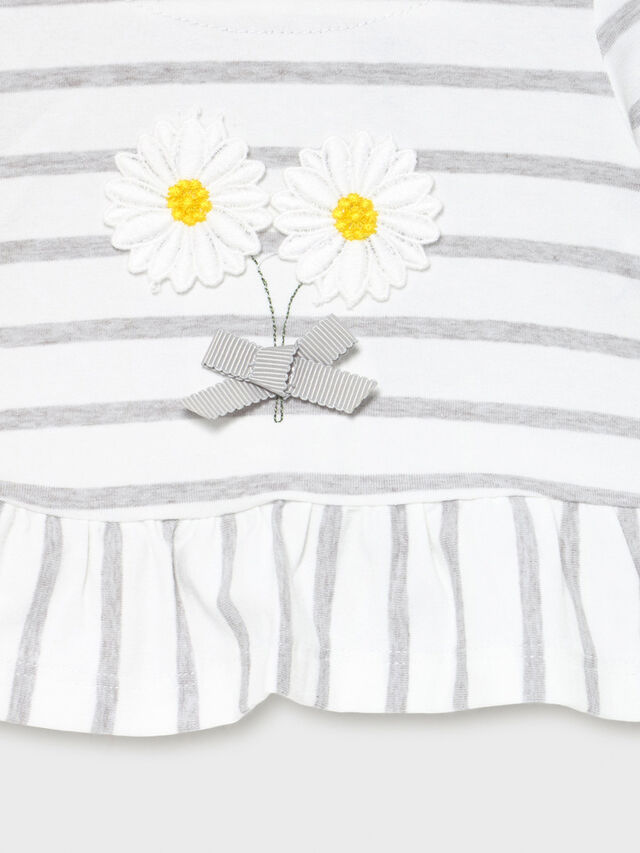Footie Twp Piece Set Daisy & Stripe