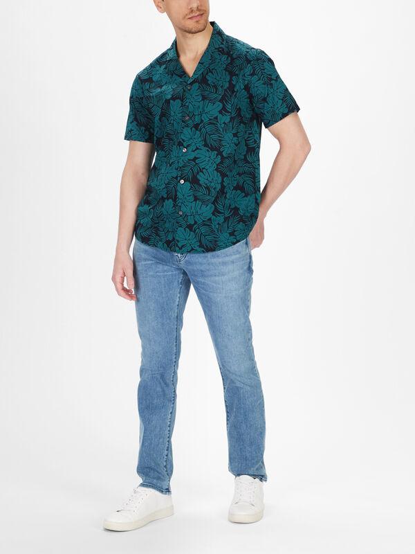 Slim Short Sleeve Tropical Shirt