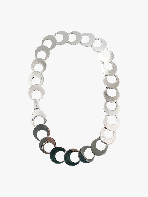 Vintage Dior Geo Hoop Collar Necklace