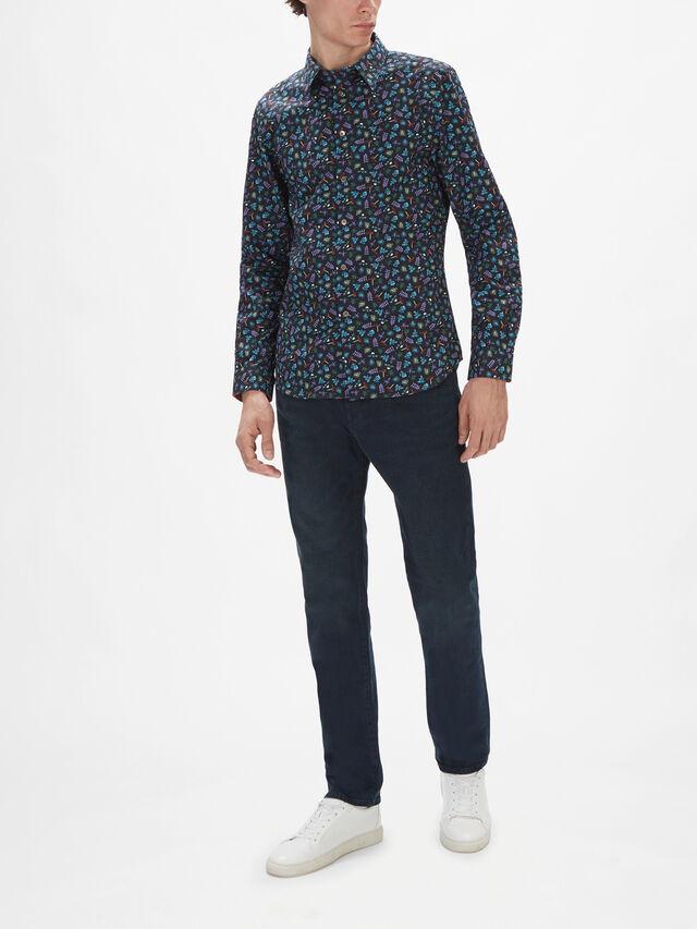 Longsleeve Outdoors Allover Print Shirt