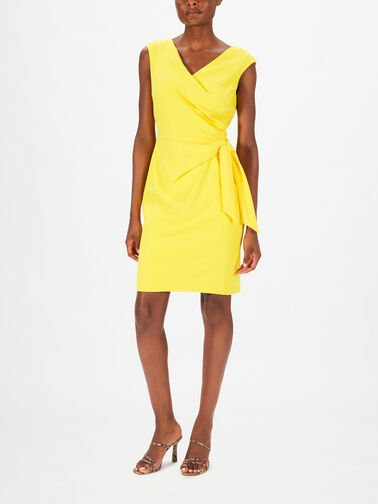 Cleonie-Cap-Slv-Wrap-Over-Fitted-Knee-Length-Dress-786126