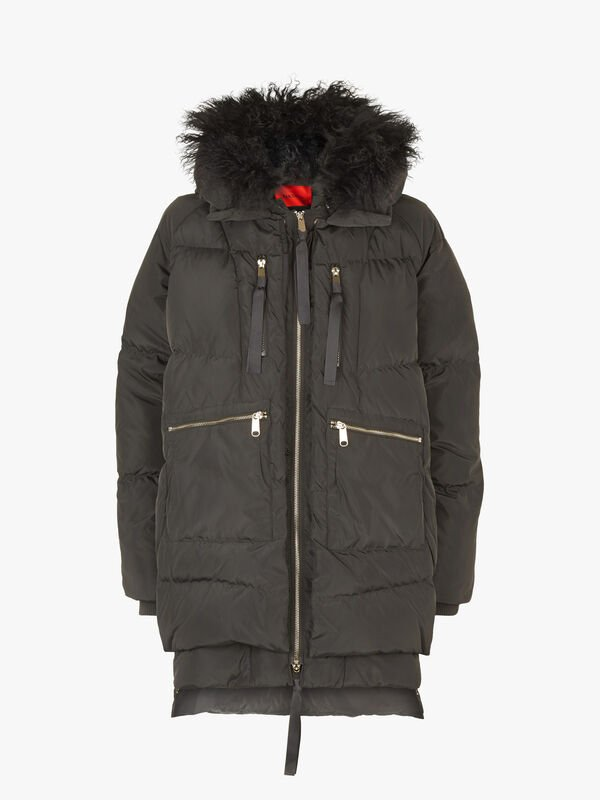 Didone Faux Fur Quilted Coat