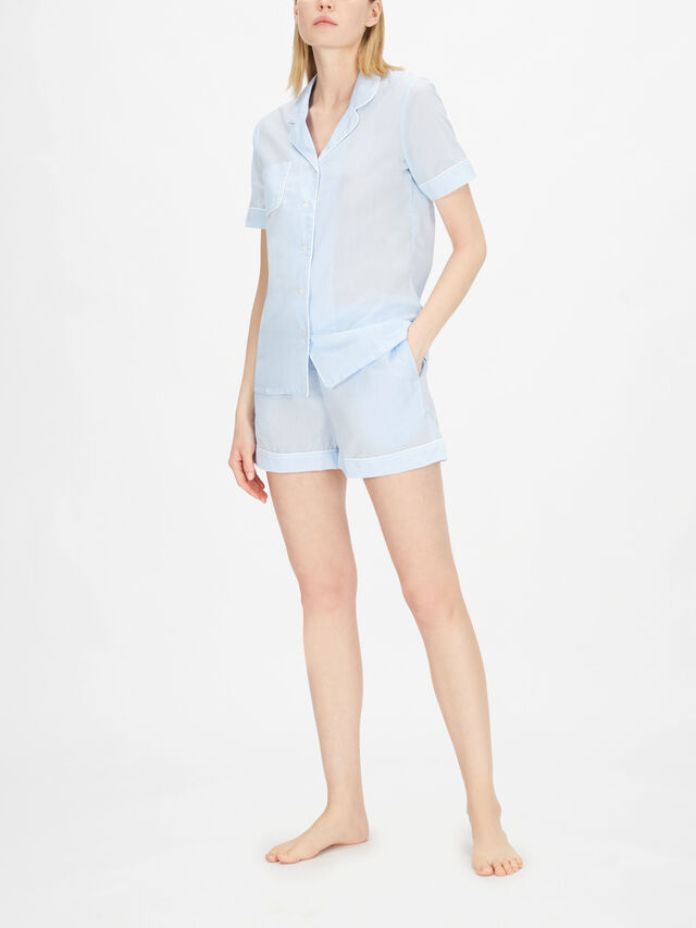 Amalfi Sky Ladies Shortie Pyjama Set