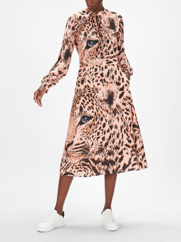 Animal Printed Midi Skirt