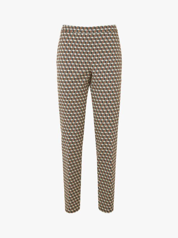 Marcia Cubist Stretch Jacquard Pants
