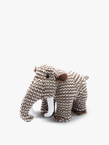Knitted Woolly Mammoth Mini Rattle