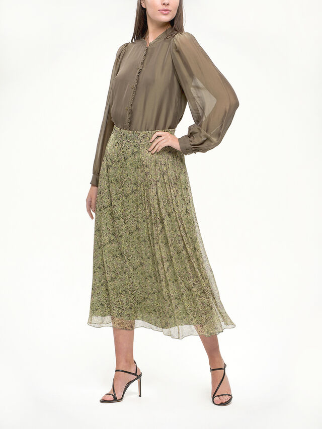 Ditsy Print Sheer Chiffon Skirt
