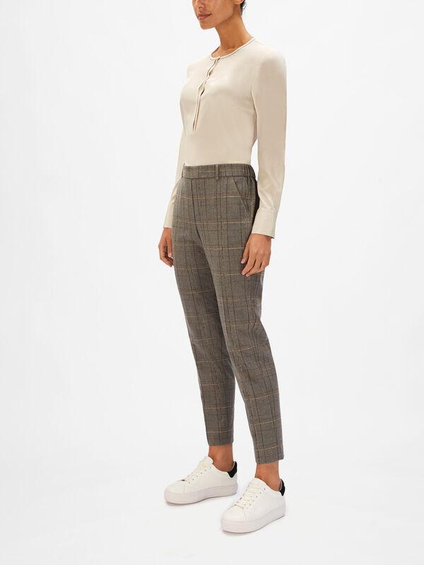 Sparkle Large Check Trouser