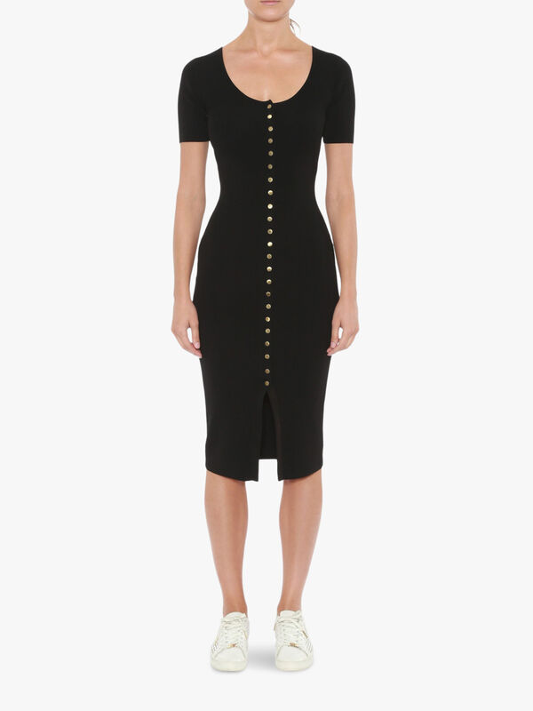Snap Front Midi Dress