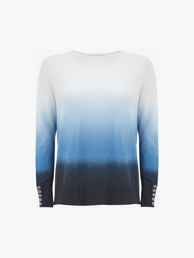 Blue Dip Dye Jumper
