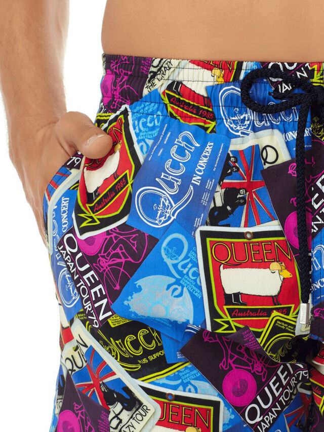 Moorise Queen Ticket Print Swim Shorts