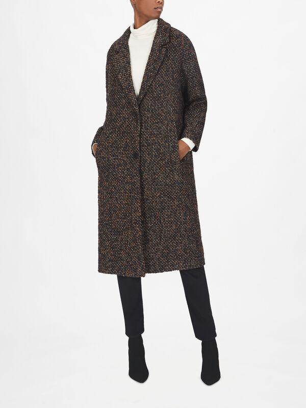 Woven Single Breast Mid Length Coat