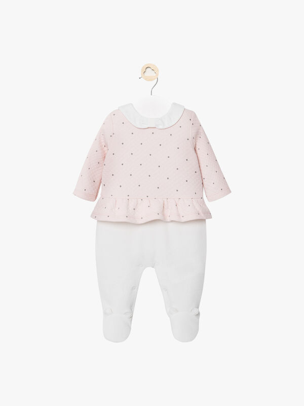 Quilted Spot Babygrow