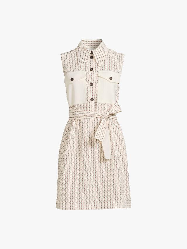 Sleeveless Mini Shirt Dress