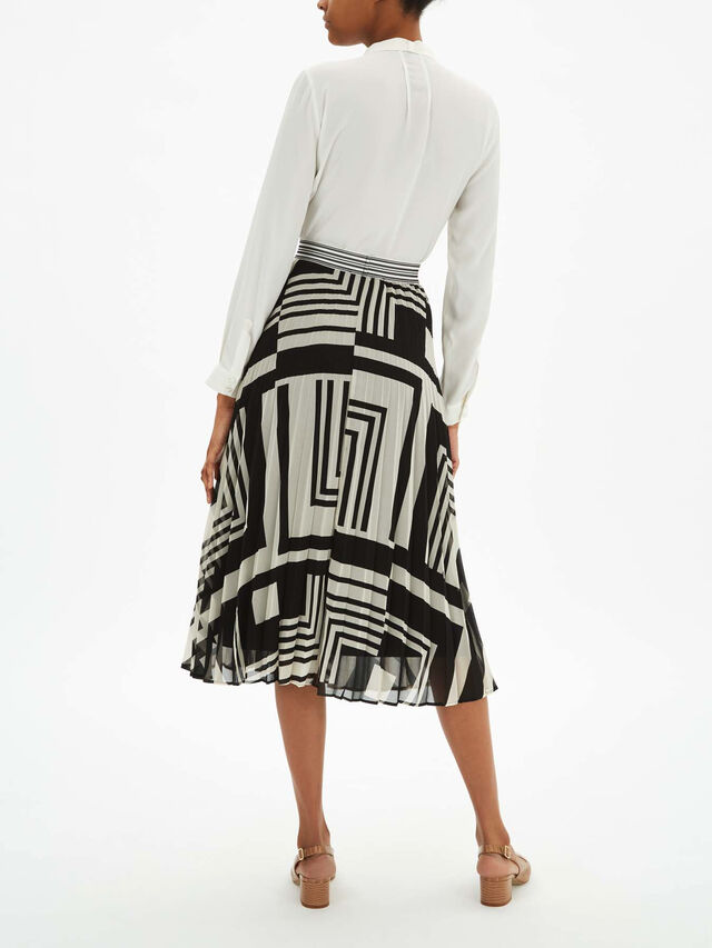 Zemira Pleated Midi Skirt