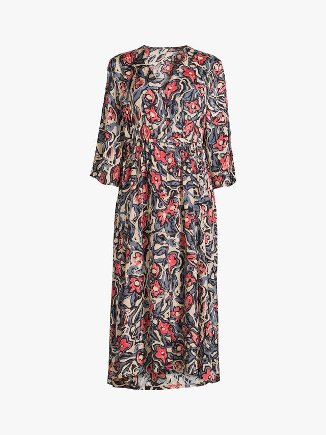 Noemi Floral Print Crinkle Dress