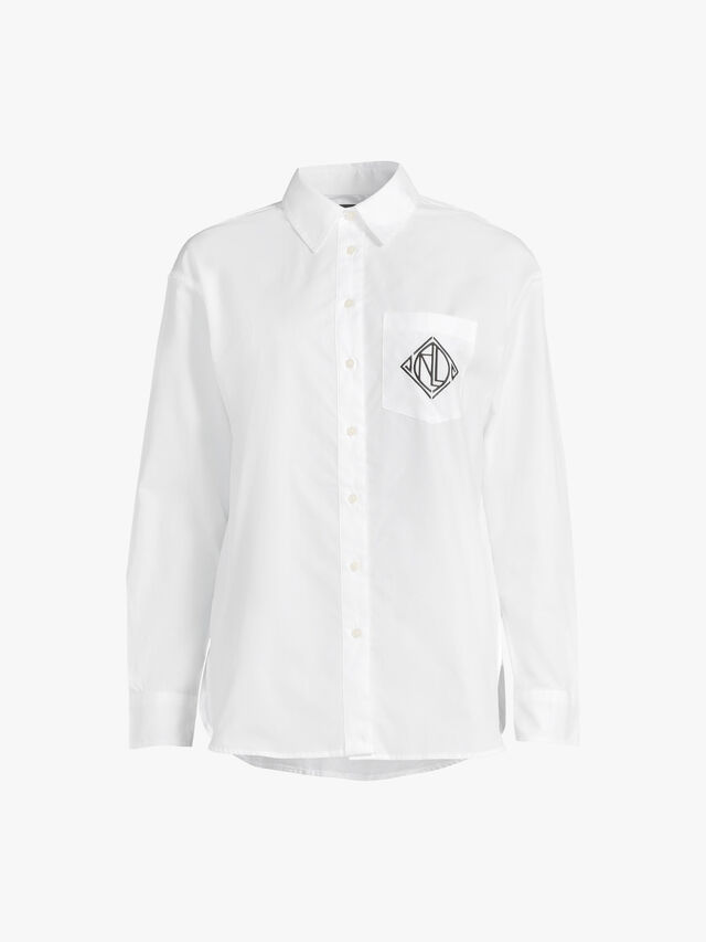 Brawley Embroidered Logo Cotton Shirt
