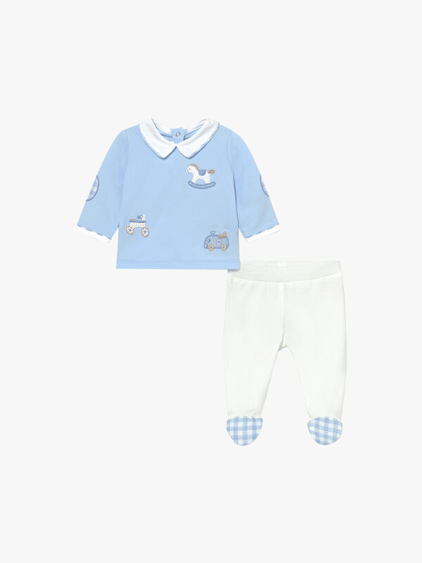 Cars & Footie Two Piece Set